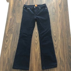 Tory Burch boot cut navy corduroys EUC
